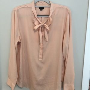 Ann Taylor tie neck blouse XL